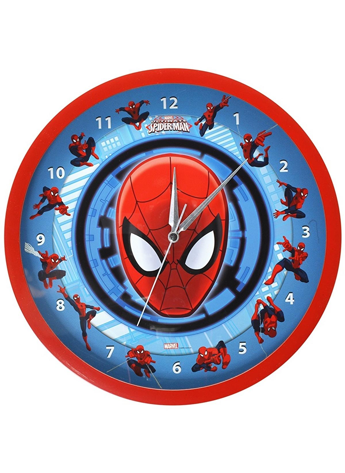 Spider Man Standart örümcek Adam Duvar Saati Renkli Morhipo 14671311